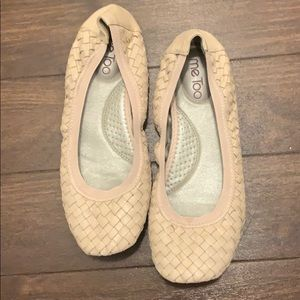 Me Too Nude Woven Ballet Flats